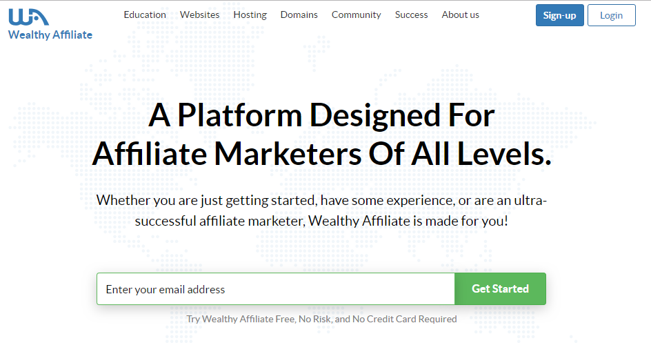 New look Wealthy Affiliate Website.