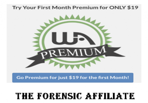 Wealthy Affiliate first month only $19.00