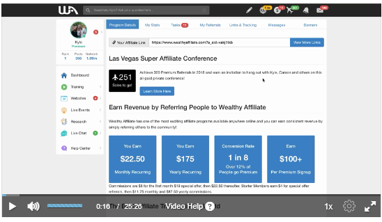 Image links to Wealthy Affiliate Training - Lesson 1