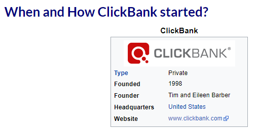 Image links back to its source as a review of Click Bank.