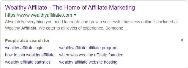 The image links to e referral page at Wealthy Affiliate.